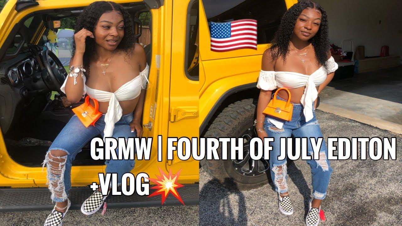 GRWM | FOURTH OF JULY EDITION | + VLOG | DIOR AVA