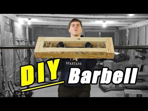 Homemade DIY Wooden Multi Grip Barbell