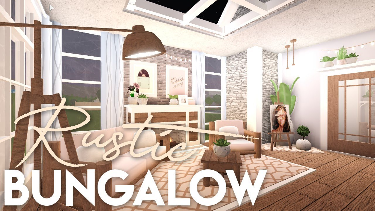BLOXBURG| Rustic Bungalow - YouTube