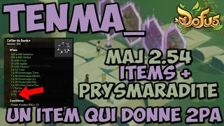 [ DOFUS ] TOUS LES ITEMS DE LA MAJ 2.54 ! UN ITEM QUI DONNE 2PA ??? [ DESCRIPTION ]
