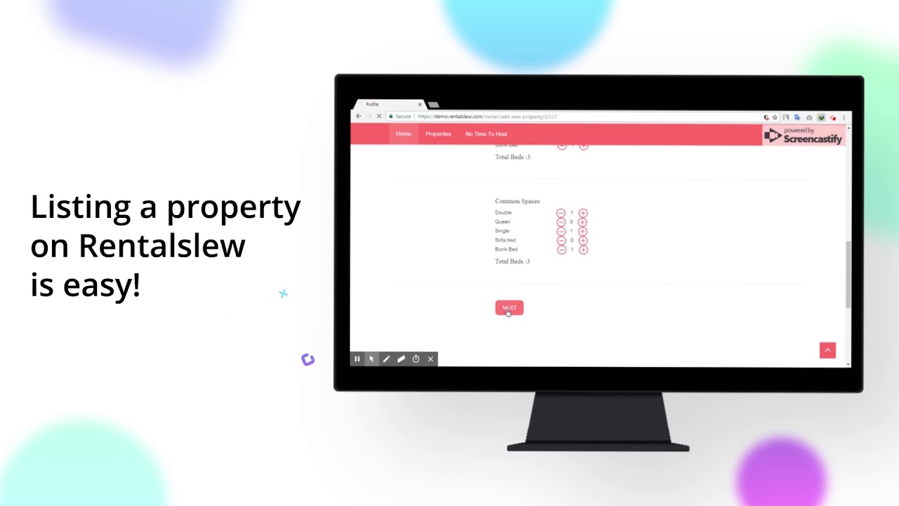 Airbnb Clone - How to list a property on RentalSlew from Web