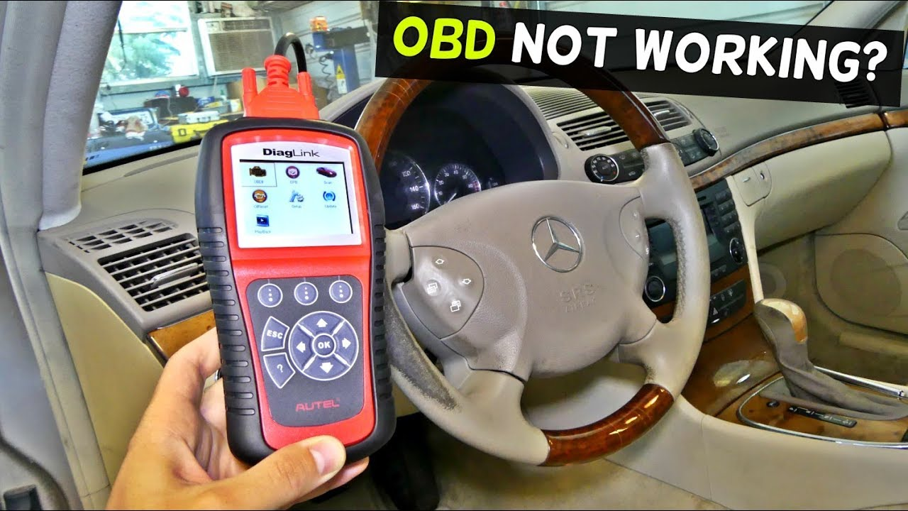Mercedes W211 Obd Port Does Not Work Youtube