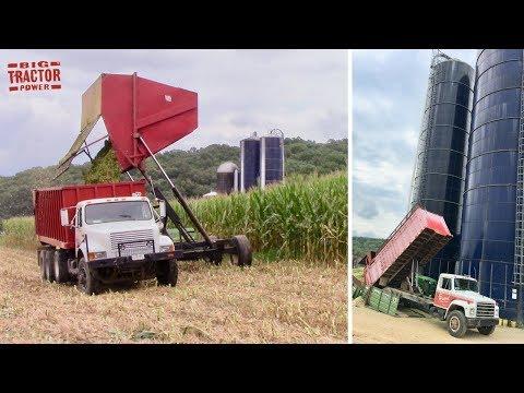 Dump Truck Filling a Silo