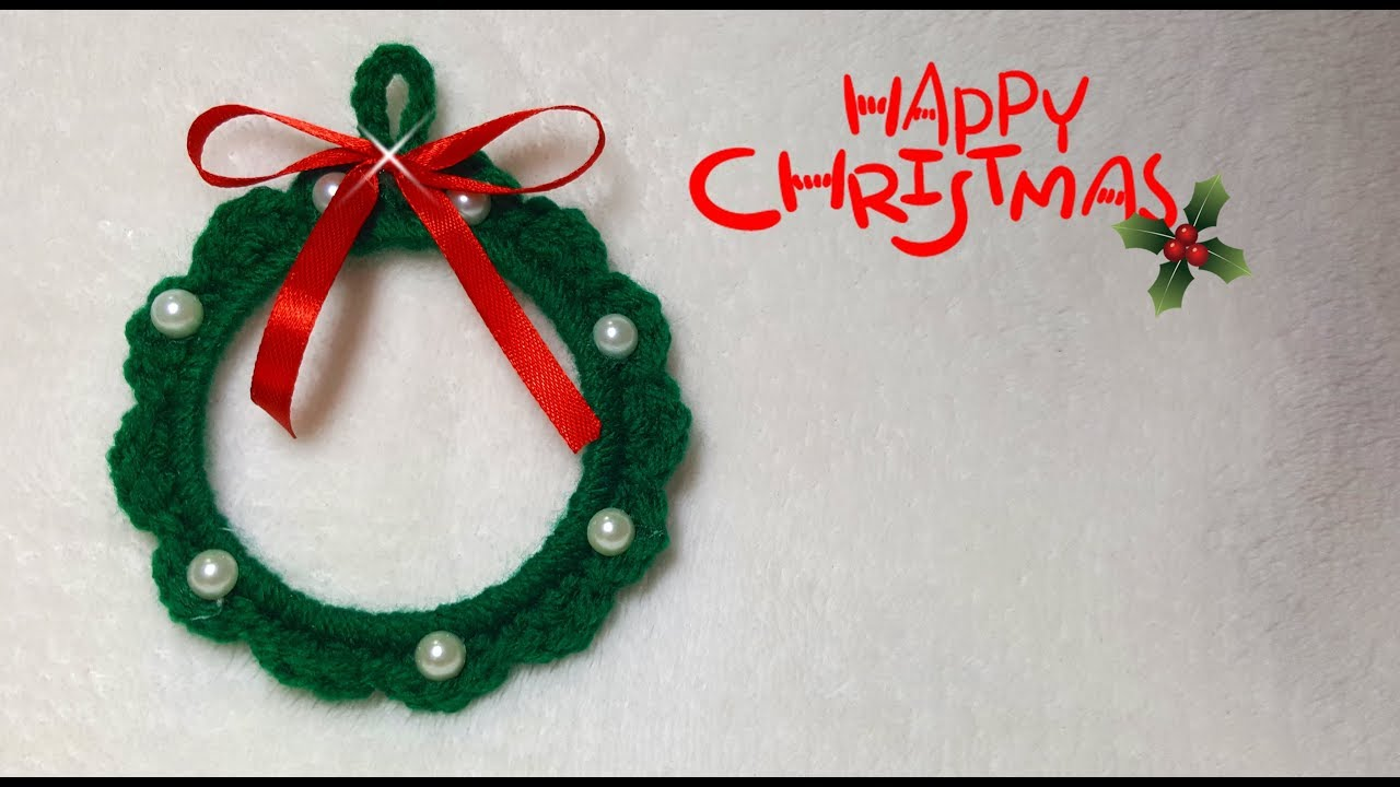 Decorazioni Natalizie Youtube.Ghirlanda Natalizia Fai Da Te All Uncinetto Christmas Garland Diy Decorazioni Di Natale Fai Da Te
