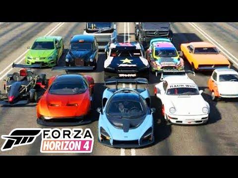 FORZA HORIZON 4 - TODOS OS CARROS DO JOGO 450+!!! (Lista Completa)