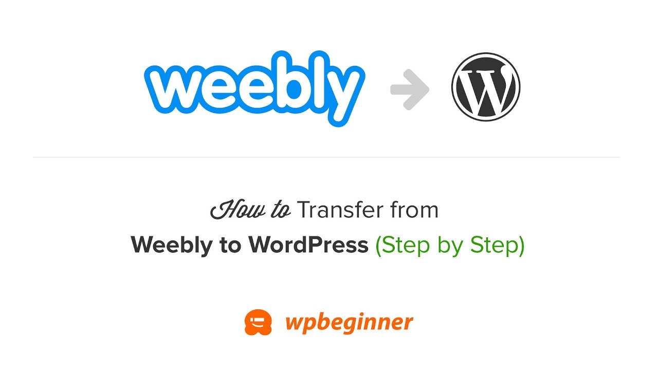 How to Properly Move from Weebly to WordPress (2019)