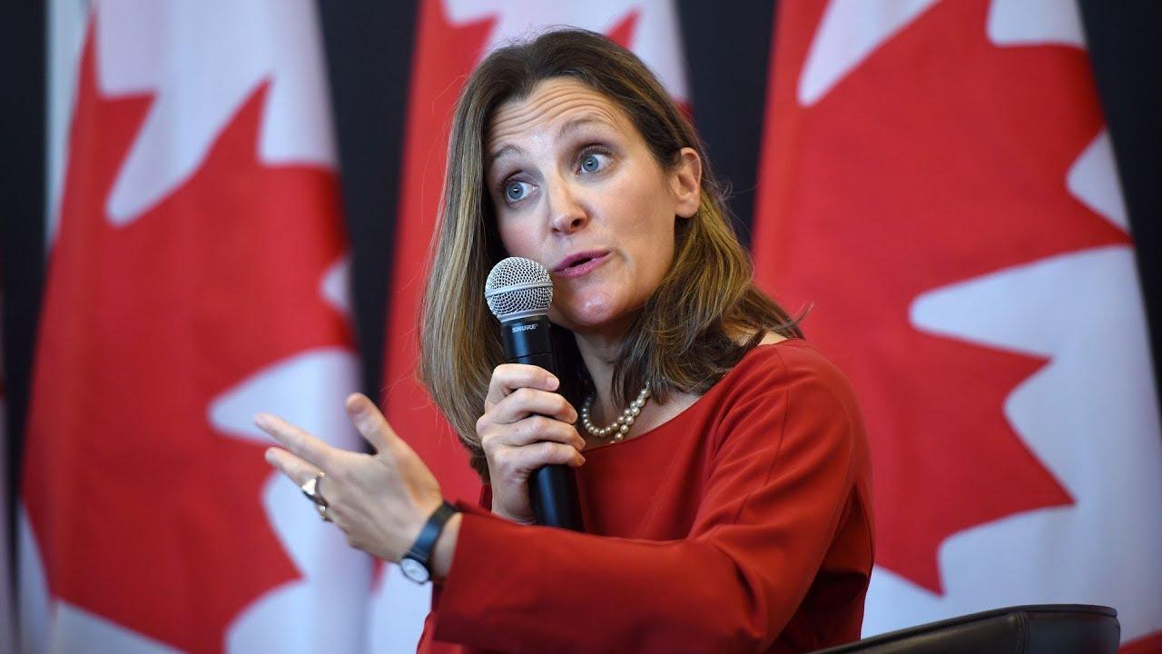 U.S. steel tariffs 'absolutely unacceptable' says Chrystia Freeland