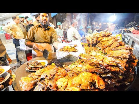 Street Food in Pakistan - HARDCORE Chicken, GOAT Foot PAYA + Pakistani Street Food TOUR of Lahore!!!