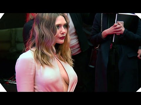 CAPTAIN AMERICA Civil War - Elizabeth Olsen Is Stunning - European Premiere Footage