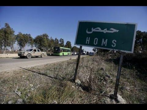 Syria rebels leaving Homs under truce deal