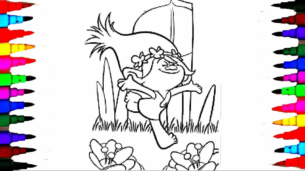 Coloring Pages Dreamworks Trolls Poppy Coloring Pages Videos For