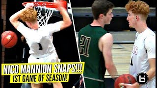 Nico Mannion SNAPS & TAKES OVER In The 2nd Half In His 1st Game Of Season!!