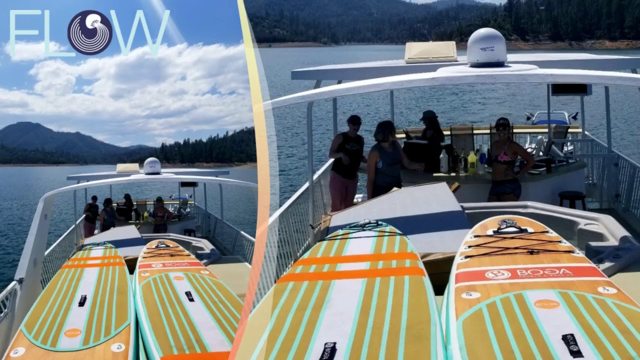 Lake Shasta Houseboat Adventure Vacation Flow Stand Up