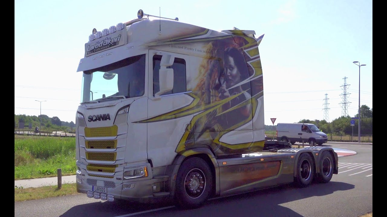 Truckstar Festival Assen 2018 with New Scania Longline, V8 open pipes