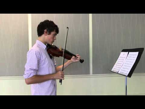 Chris Monde violin solo 10/30/15, Holy Innocents Episcopal School