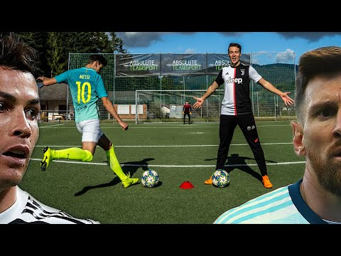 Ronaldo VS Messi - Freekick Challenge In Real Life