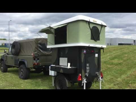 pop up tent, roof rack tent, 4x4 camping trailer, ventur made in the U.K. expedition 4 x 4 trailer