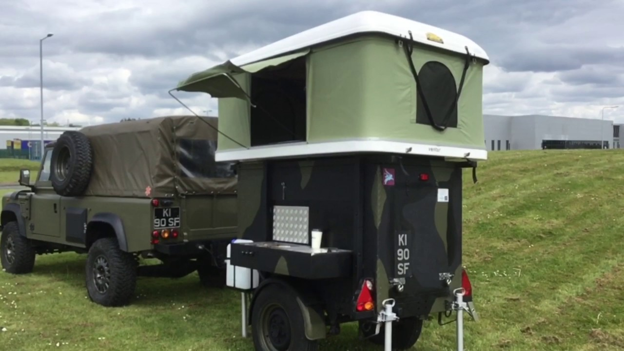 pop up tent roof rack tent 4x4 c&ing trailer ventur made in the U.K. expedition 4 x 4 trailer & pop up tent roof rack tent 4x4 camping trailer ventur made in ...