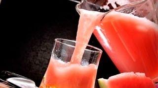 Agua De Sandía Con Hierbabuena - Watermelon Water With Mint