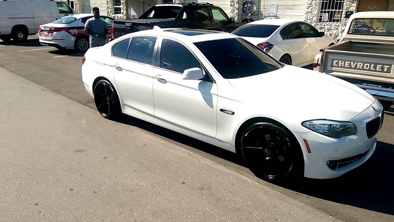877 544 8473 20 Inch Kmc District Km685 Black Concave Rims 2014 Bmw 5 Series Review Wheels Miami