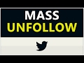 Learn how to easily unfollow all your twitter followers in 3 seconds