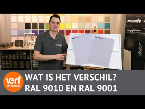 Wat is het verschil tussen Ral 9010 en Ral 9001?