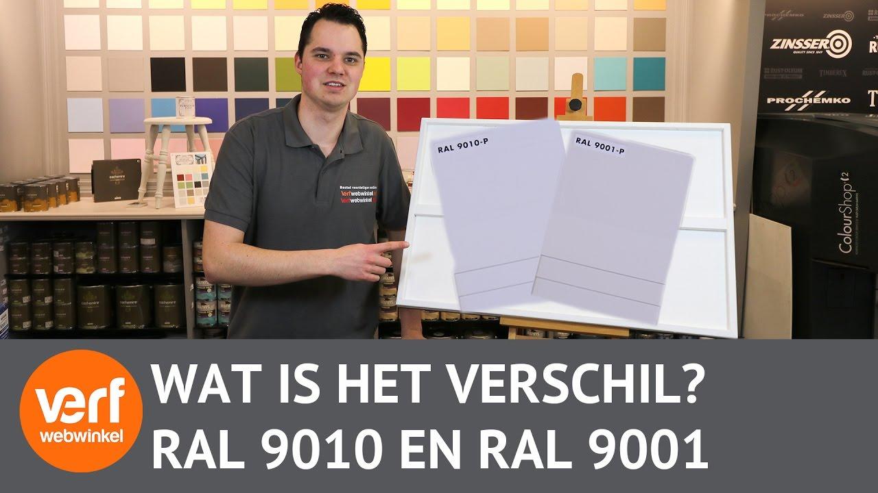 Gebroken Wit Verf : Wat is het verschil tussen ral 9010 en ral 9001? youtube