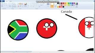 Polandball Drawing - Syria, Switzerland, and South Africa