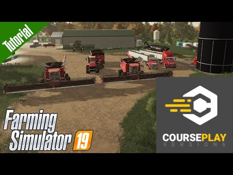 How To Automate A Grain Cart Driver And Multiple Harvesters With Courseplay In Farming Simulator 19