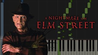 A Nightmare on Elm Street Theme | Piano Tutorial видео