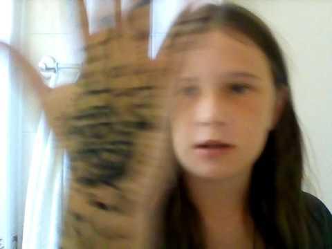 Как снять хну засохшую с руки/реально работает☺☺👍👍👍👍👍