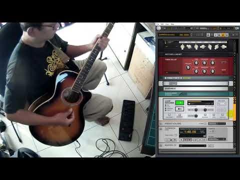 Changes (YES) Cover GUITAR RIG 5 DIY Keyboard Pedal Loop