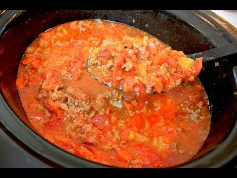 Crockpot Spaghetti Sauce Recipe: Slow Cooker Meat Sauce (Homemade)