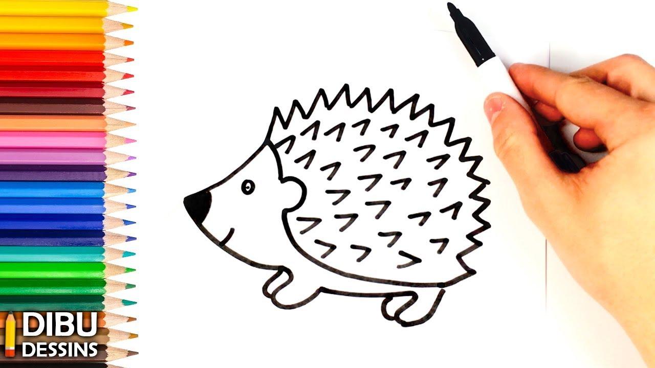 Comment dessiner un h risson dessin de h risson youtube - Herisson dessin ...