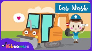 Bulldozer Car Wash | Baby Song | Trucks | Kids Song | The Kiboomers