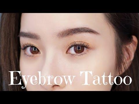 飄眉+飄髮際線全過程、結痂期、素顏完妝樣 Eyebrow Tattoo