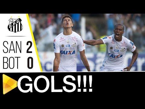 Santos 2 x 0 Botafogo-SP | GOLS | Paulistão (25/02/17)