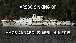 hmcs annapolis sinking april 4th 2015