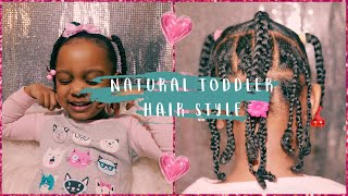 VALENTINES DAY HAIR | Braids + Ponytails | Toddler Natural Hairstyles