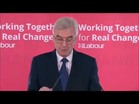 Shadow Chancellor John McDonnell's pre-budget speech
