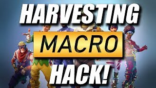FORTNITE FAST HARVESTING/FARMING MACRO HACK FOR STEELSERIES (RIP)