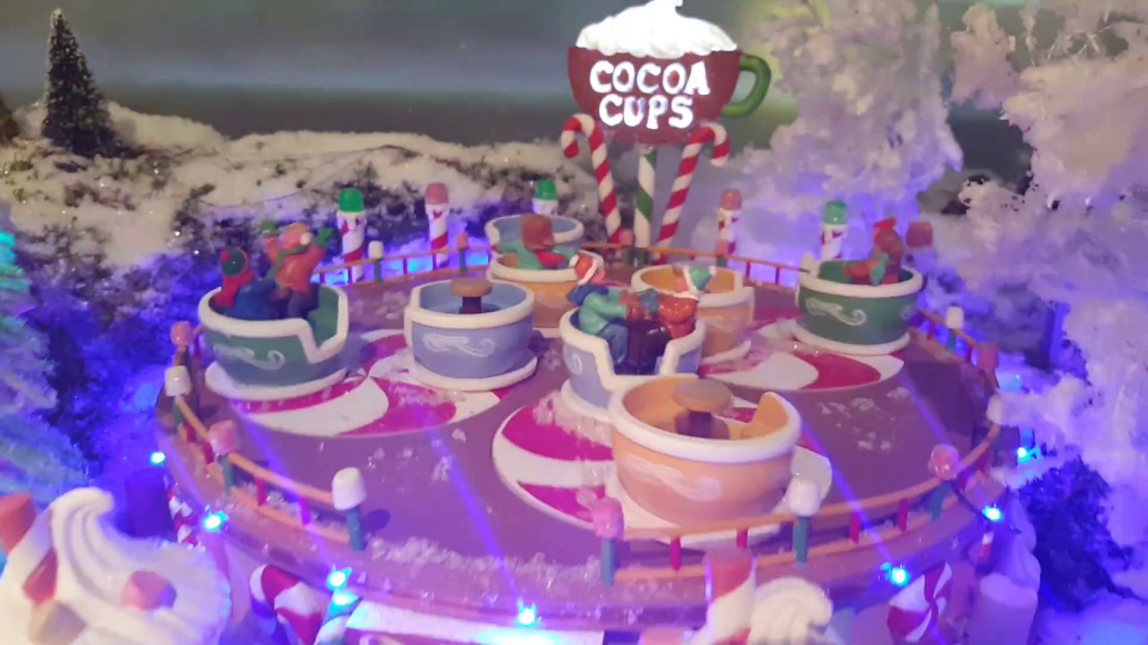 LEMAX 74222-Cocoa Cups bloc d/'alimentation-Noël Village Hivernal Set of 2-incl