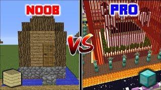Minecraft NOOB VS PRO: SECRET BASE ENTRANCE !! Minecraft Noob Vs Pro