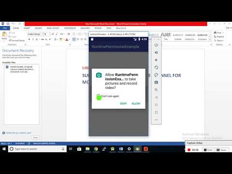 Android Runtime Permissions Tutorial With Example Programmatically