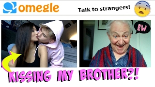 KISSING MY BROTHER ON OMEGLE *TROLLING* | Crazy