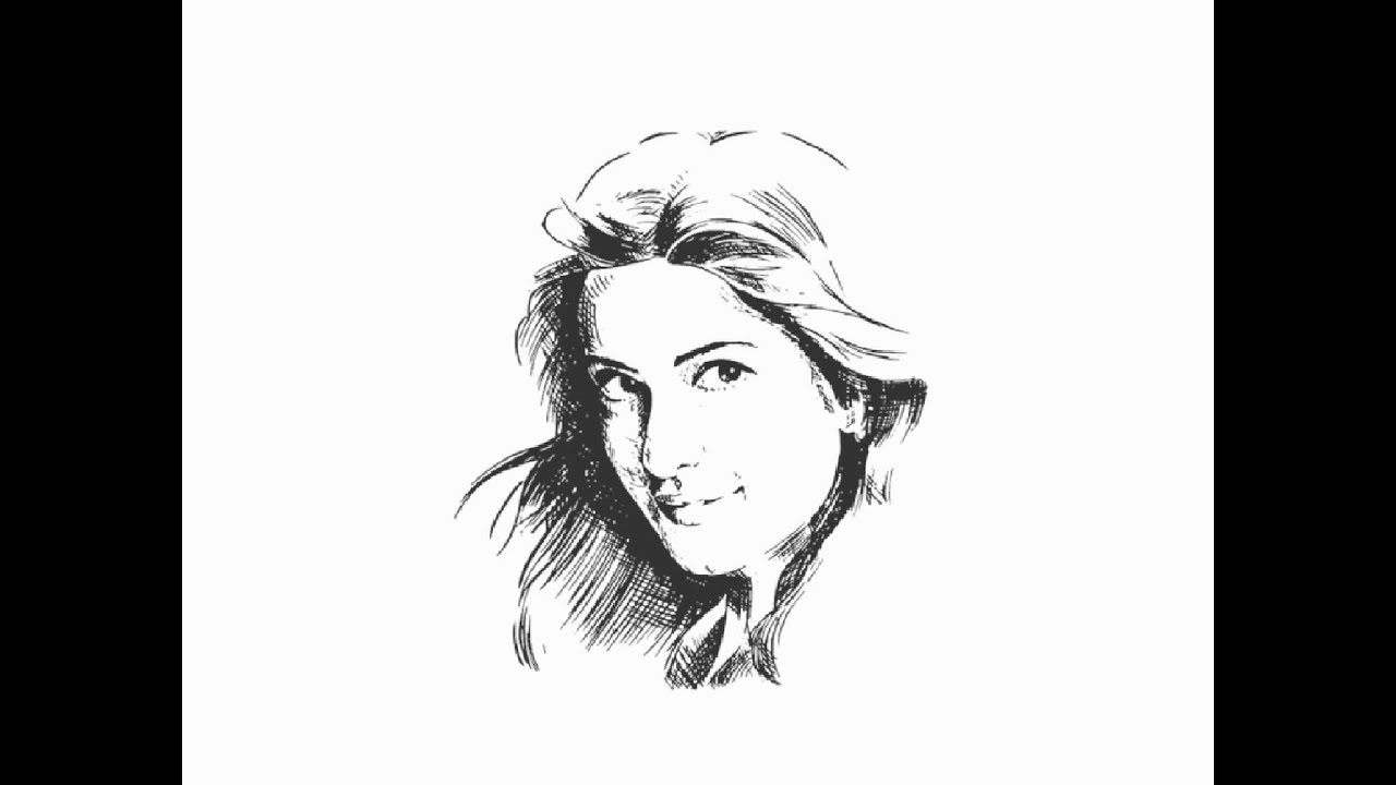"How to draw ""Katrina Kaif"" face pencil drawing step by ..."