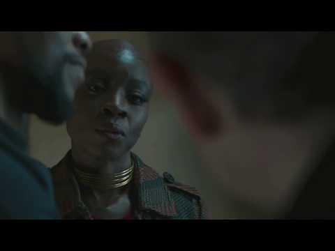 Funniest scene in Black Panther  Does she speak English  Okoye Gets angry on Everett   Danai Gurira