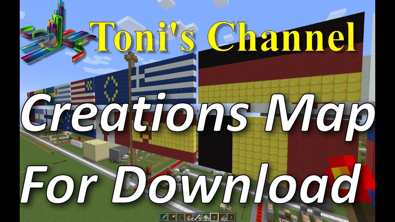 Minecraft maps Download pc,Tutorial, Zombie farms, Redstone  creations,Train, Piston, houses, Mansion
