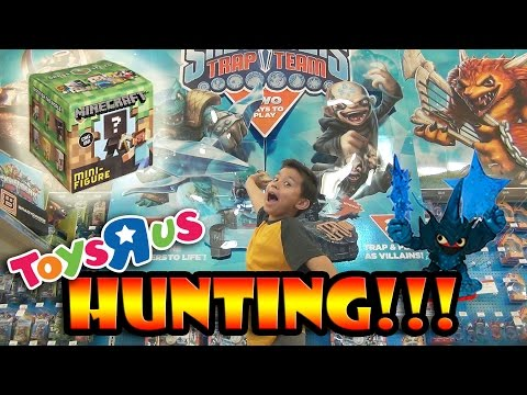 MINECRAFT Surprise Box + Skylanders TRAP TEAM HUNTING At Toys