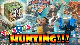 "MINECRAFT Surprise Box + Skylanders TRAP TEAM HUNTING at Toys ""R"" Us!!!"